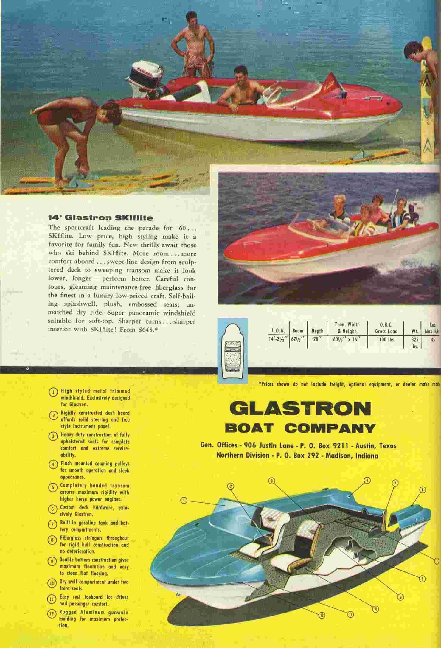 1960 Glastron Advertising Supplement pg. 4